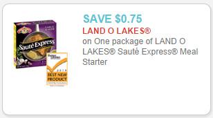 Land O Lakes Saute Express Meal Starters coupon