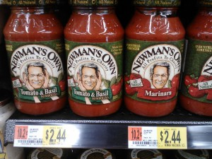 Newman's Own Pasta Sauce 3-9-12