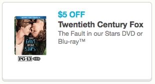 The Fault in Our Stars Coupon