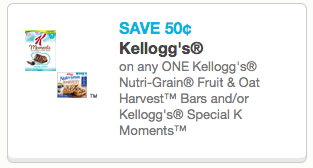 $0.50 off Nutri-Grain or Special K Moments™ bars coupon