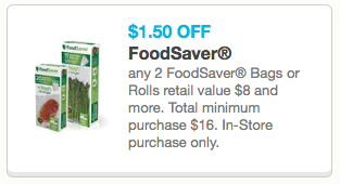 FoodSaver Vacuum Sealer Coupon