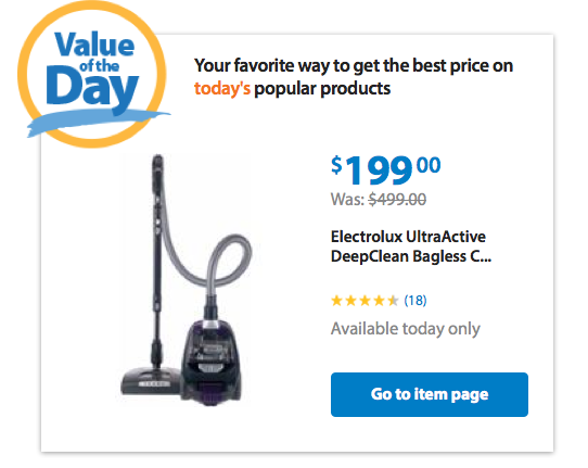 Electrolux UltraActive DeepClean Bagless Canister Vacuum Only $199 + FREE Shipping (Reg. $499)!
