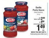 barilla pasta sauce kroger