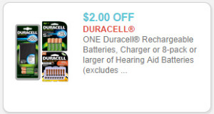 image regarding Duracell Battery Coupons Printable titled Duracell Rechargeable Batteries for $8.97 at Walmart!