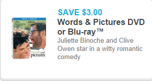 Words & Pictures DVD Coupon