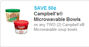 Campbell's Microwavable Soup Coupon