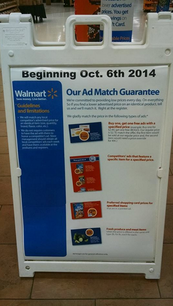 Florida Walmart Bogo Policy