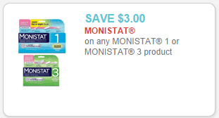 picture regarding Monistat Printable Coupons identified as Monistat 3 for $10.38 at Walmart!