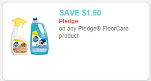 pledge floor care product coupon
