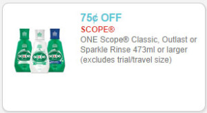 scope rinse coupon