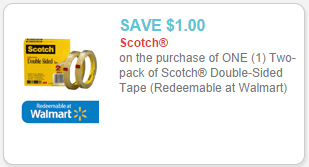 scotch double sided tape coupon