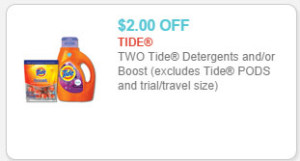 tide detergents coupon