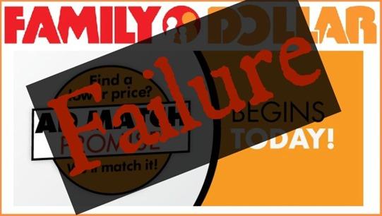 Family Dollar ad match Failure