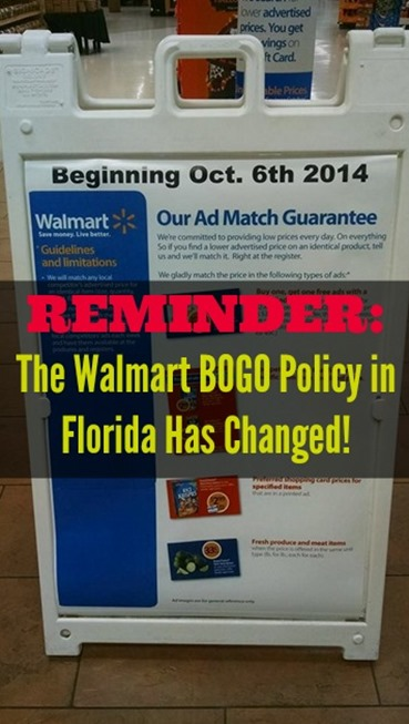 Walmart BOGO Policy in Florida Has Changed