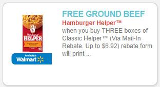 free meat wyb hamburger helper coupon