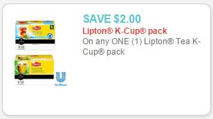 lipton tea k-cup coupon