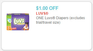 luvs diapers coupon