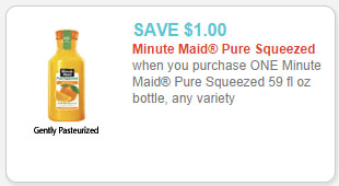 minute maid pure squeezed juice coupon