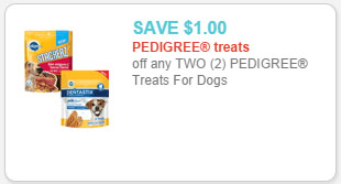 pedigree dog treats coupon