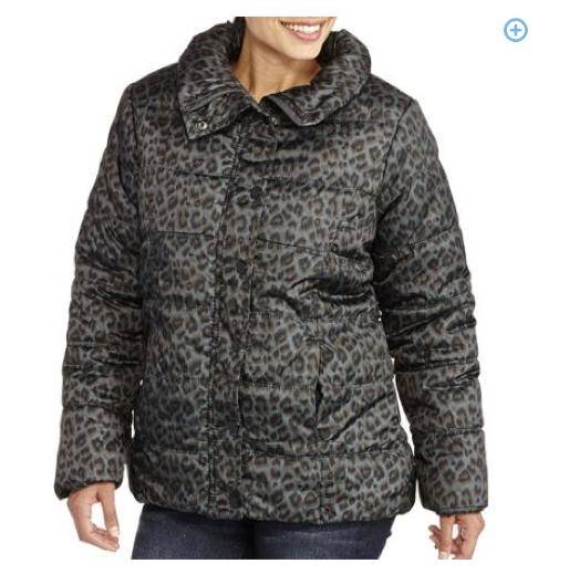 Women's Animal Print Puffer Coat Only $10 + FREE Store Pickup (Reg. $23)!