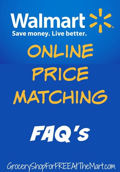 Walmart Online Price Matching FAQ's