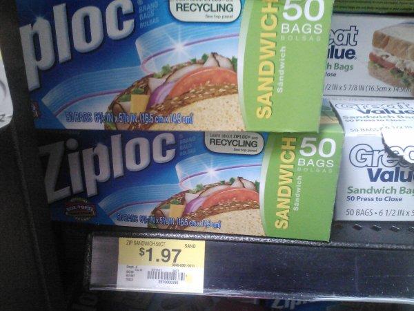 Ziploc Sandwich Bags 1-12-12