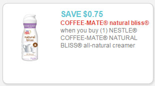 coffee-mate natural bliss coupon