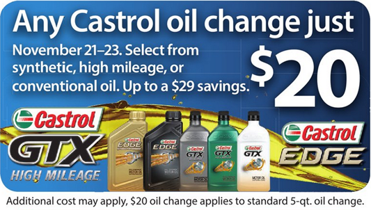 Walmart Oil Changes >> Castrol Oil Change Just 20 This Weekend At Walmart