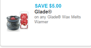 Glade Wax Melts Warmer Coupon