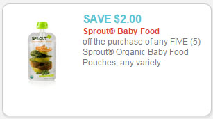 sprout organic baby food pouches coupon