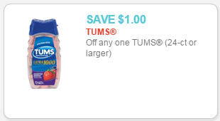 image regarding Tums Coupon Printable known as Tums as lower as $0.74 at Walmart!