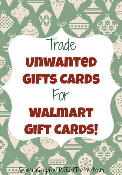 Trade Unwanted Gift Cards For Walmart Gift Cards