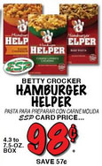 hamburger helper price match