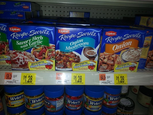 Lipton Soup or Recipe Secrets Starting at $.86 at Walmart!