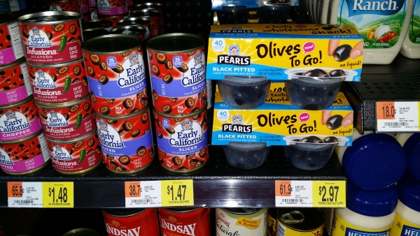 Pearls Olives To Go for $1.97 at Walmart!
