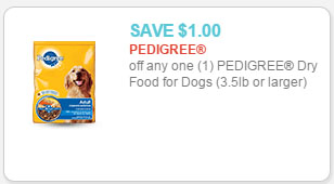 pedigree dog food coupon