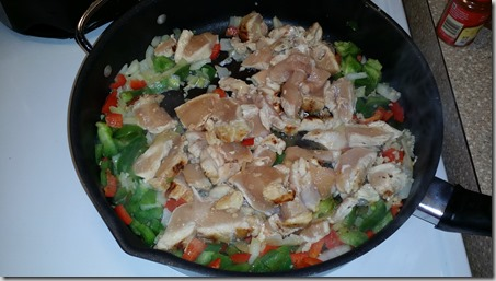 Chicken and Peppers Sauteeing