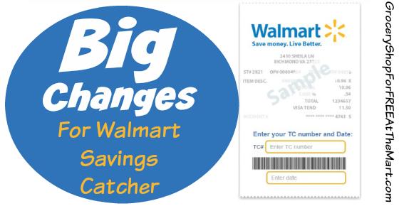 Updatewalmart announces big changes to savings catcher grocery big changes for walmart savings catcher fandeluxe Choice Image