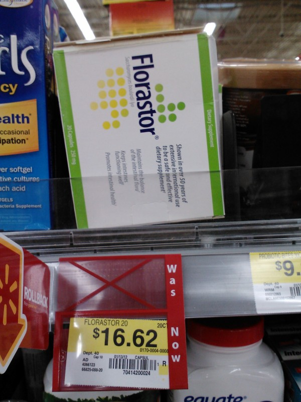 Florastor as low as $11.62 at Walmart!