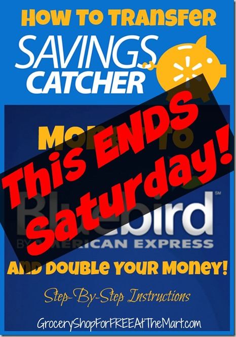 How to Transfer Savings Catcher Money to Bluebird and Double it Step by Step Instructions - Ends Saturday