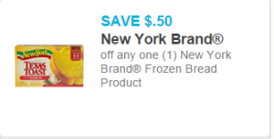 New York Frozen Bread as low as $1.92 at Walmart!