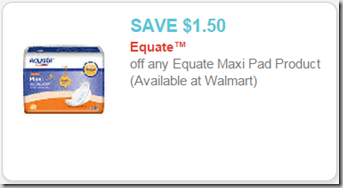 Equate Pads Just 47 At Walmart