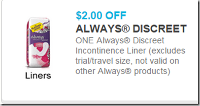 Always Dscreet Coupon