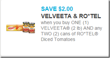 Velveeta and Ro-Tel Coupon
