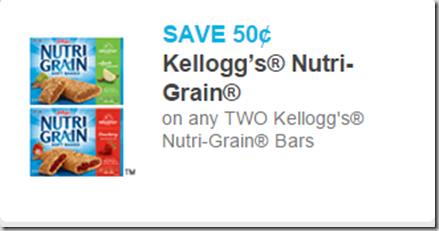 Kellogg's Nutri-Grain Bar Coupon