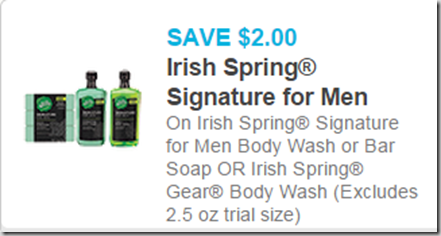 Irish Spring Signature Coupon