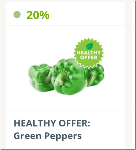 SavingStar Produce Deal: Save 20% on Green Peppers!