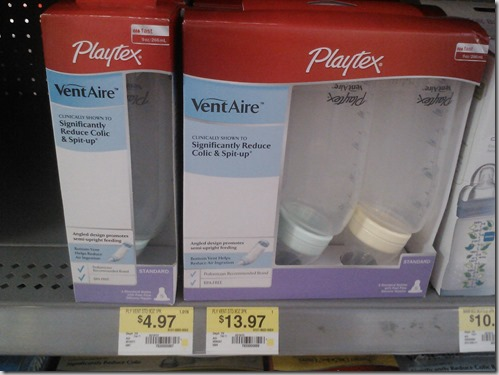 FREE Playtex VentAire Bottles with Overage at Walmart!