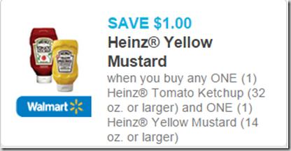 Heinz Ketchup and Mustard Coupon