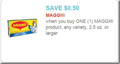 Maggi Printable Coupon